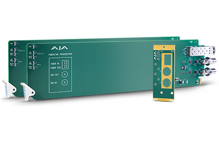 AJA openGear® 3G-SDI Multi-Mode Fiber Cards Debut at IBC 2017