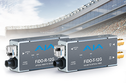 AJA Introduces New FiDO 12G SDI/Optical Fiber Mini-Converters at IBC 2017