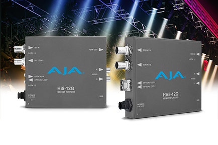 AJA Introduces Hi5-12G and HA5-12G Mini-Converters at InfoComm 2018
