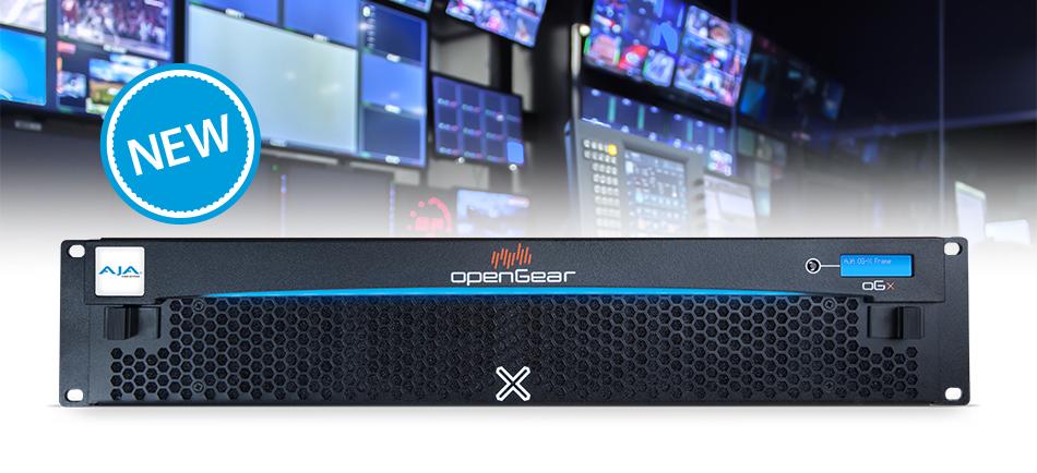 AJA Announces OG-X-FR <br />openGear® Compatible Rackframe<br />Available for Order