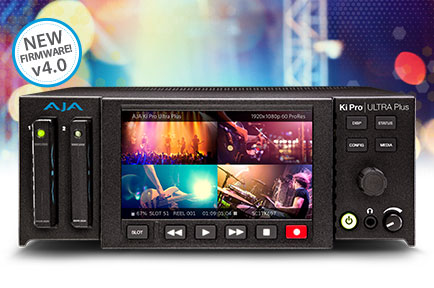 AJA Announces Ki Pro Ultra Plus v4.0 Firmware at IBC 2018