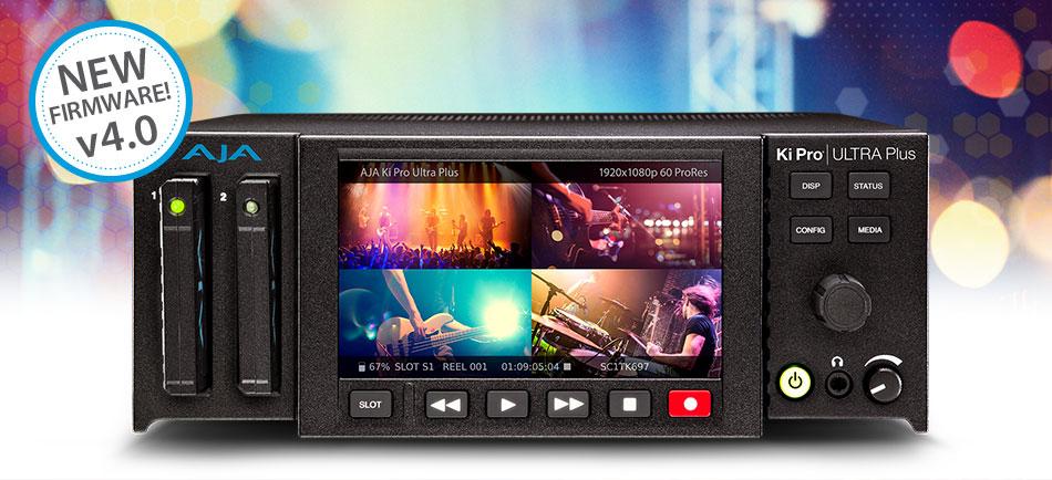 AJA Announces Ki Pro Ultra Plus v4.0 Firmware at IBC 2018
