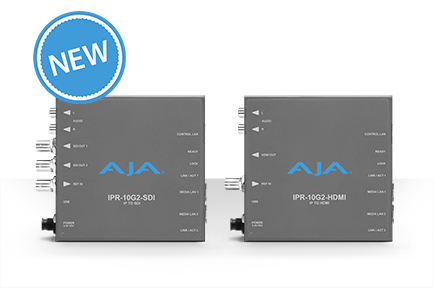AJA Ships IPR‑10G2‑HDMI andIPR‑10G2‑SDISMPTE ST 2110 Mini‑Converters