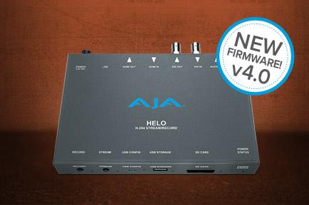 AJA Announces HELO v4.0 Firmware