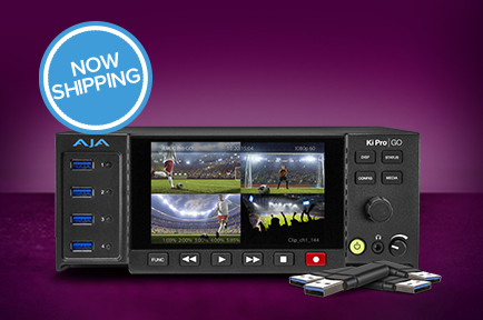 AJA Ships Ki Pro GO Multi-Channel H.264 Recorder/Player