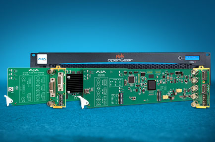 AJA Introduces New openGear® Compatible Cards at IBC 2019