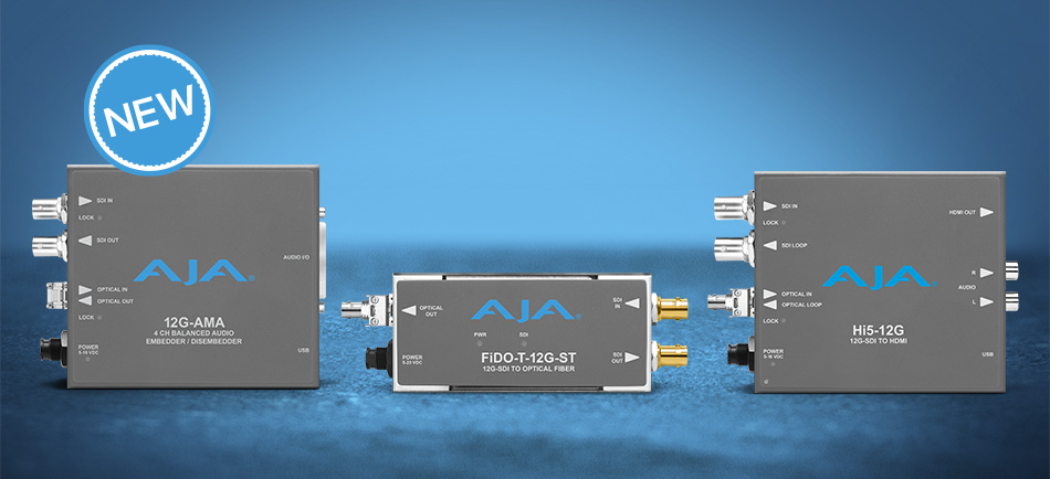 AJA Introduces New 12G-SDI Mini-Converters