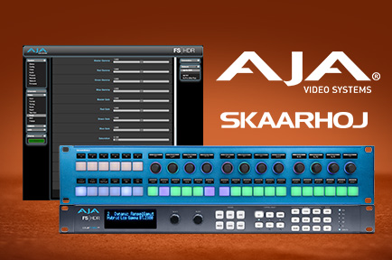AJA and SKAARHOJ Partner to Integrate AJA FS Products with Rack Control Duo
