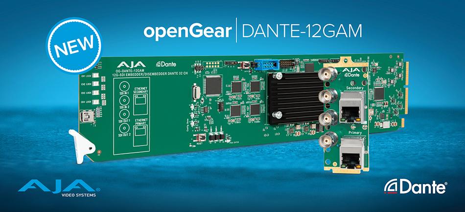 AJA Unveils World's First 12G-SDI to Dante Audio Bridge