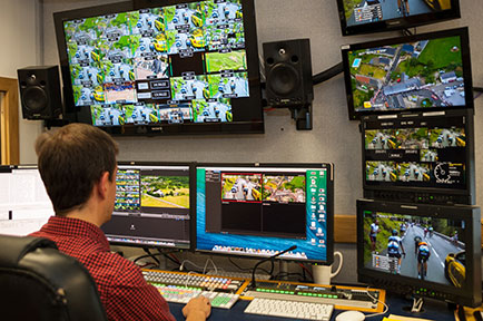 VSquared TV Edits Tour de France Broadcasts with AJA Io® 4K and T-TAP™ on new Mac Pros Running FCPX