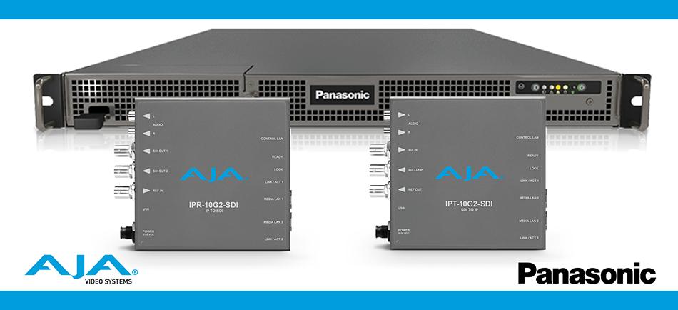 AJA Joins Panasonic KAIROS Alliance and Announces IP ST 2110 Mini-Converters Compatibility with KAIROS Live Production Platform