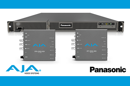 AJA Joins Panasonic KAIROS Alliance and Announces IP ST 2110 Mini-Converters Compatibility with KAIROS Live Production Platform