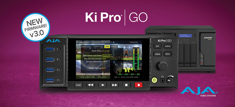 AJA Introduces Ki Pro GO v3.0 With New Network-Recording