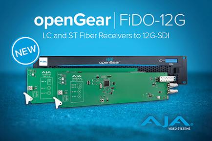 AJA Announces New openGear® Fiber to 12G-SDI Converters