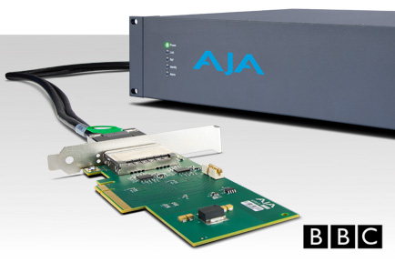 BBC R&D Uses AJA Corvid Ultra in Test Pilot to Deliver UltraHD TV Over the Internet