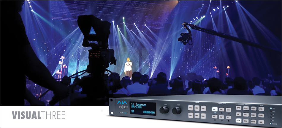 Malaysia's Visual Three Powers Live Production With AJA FS-HDR