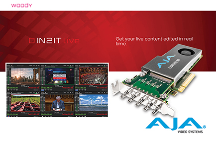 Woody Technologies' IN2IT Live Advances Remote Ingest with Help from AJA I/O Technology