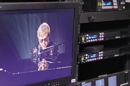 AJA Ki Pro Rack Rocks For Elton John