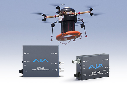 SK Telecom's Drone Emergency Surveillance System  Saves Lives with Help from AJA ROI-DP and Hi5-Plus Converters