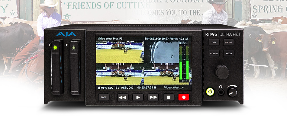 Video West Productions Deploys AJA Ki Pro® Ultra Plus to Record Real Time Video for NCHA Judging