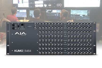 AJA KUMO 6464 Powers Multi-Signal Routing for Live King of Hammers 2018 Off-Road Racing Production
