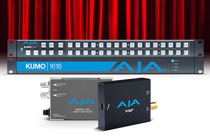 AJA's KUMO 1616 Router and T-TAP Help DIT Sam Petrov Deliver Color Accurate Picture On-Set