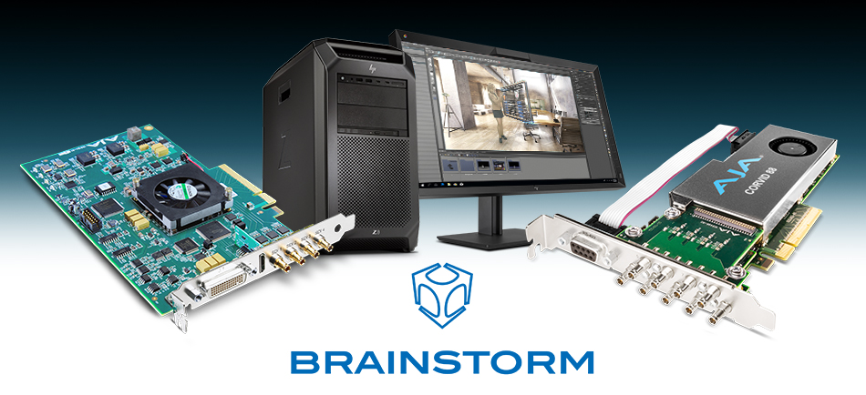 AJA I/O Hardware Helps Brainstorm Deliver Flexible, Real-Time Graphics and Virtual Set Solutions