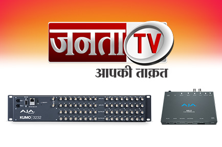 AJA Gear Greases the Wheels at Janta TV
