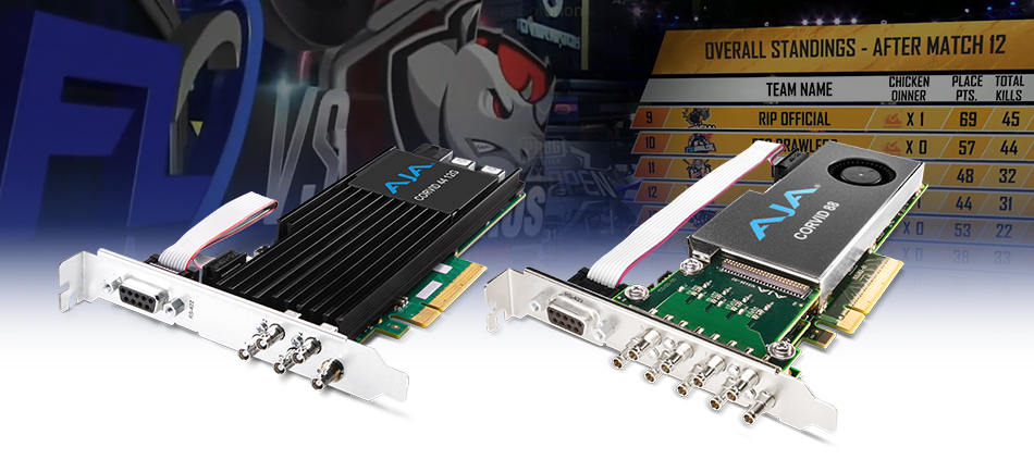 AJA Corvid Developer Cards Powers I/O for WASP3D's Real-Time Broadcast Graphics