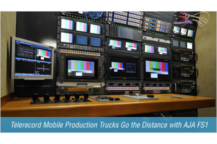 Telerecord Mobile Production Trucks Go the Distance with AJA FS1