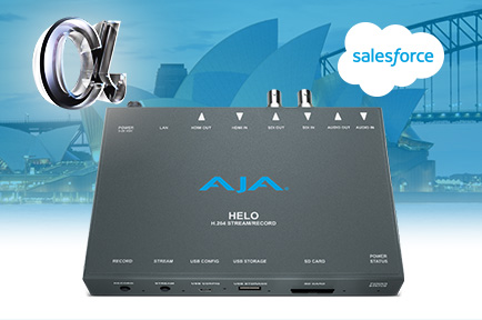 AJA HELO Helps Transport Audiences to Salesforce's Virtual World Tour Sydney