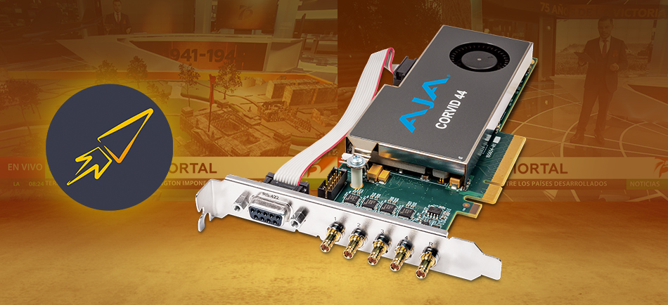 Carrot Broadcast Streamlines Real-Time 4K Graphics Production with AJA Corvid 44 I/O Cards