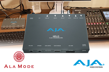 Tokyo-Based ALAMODE Live Streams and Records Web Content With AJA HELO
