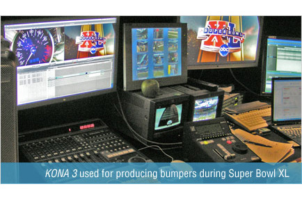 AJA KONA 3 Accelerates Live Editing During Super Bowl XL
