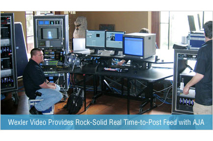 Wexler Video Provides Rock-Solid Real Time-to-post Feed with AJA Solutions
