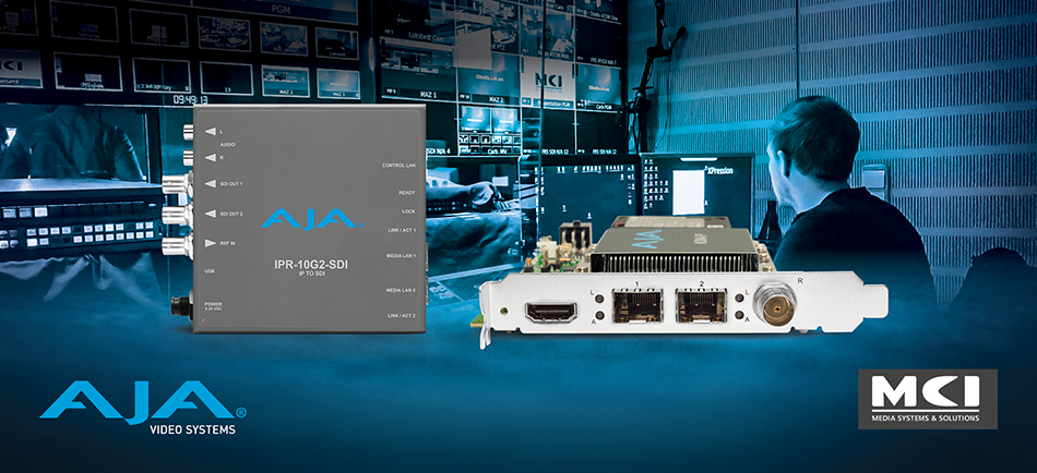 MCI's XMedia.Lab Shapes the Future of Broadcast IP Workflows With AJA IP Solutions