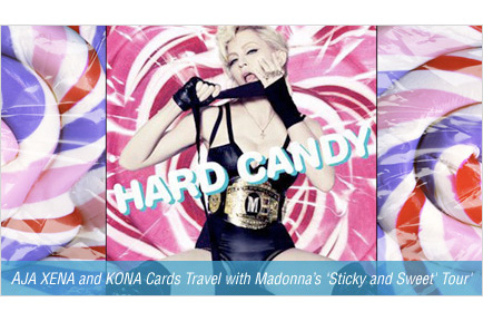 AJA XENA and KONA Cards Travel with Madonna's 'Sticky and Sweet' Tour