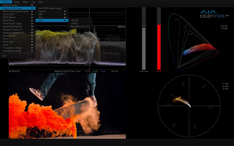 HDR Image Analyzer - HDR Waveform, Histogram and Vectorscope Monitoring